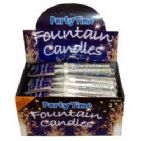 Ice Fountain Candles SILVER Cake Sparklers (2 Pack) - Party Time